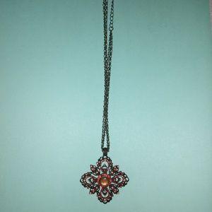 Brass hardware necklace
